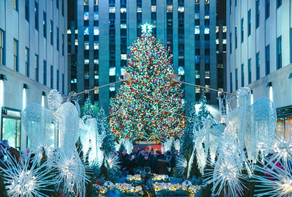Christmas tree lighting at the Rockefeller's center in New York - December 2017