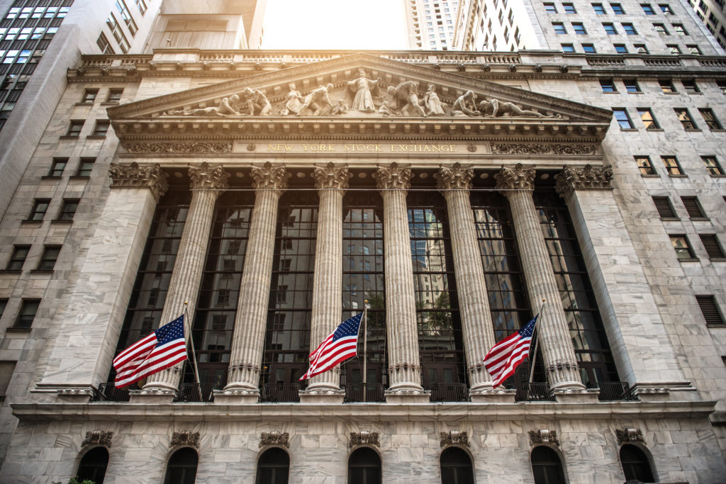 NEW YORK CITY - August 20: The New york Stock Exchange August 20, 2015 in New York, NY. It is the largest stock exchange in the world by market capitalization.