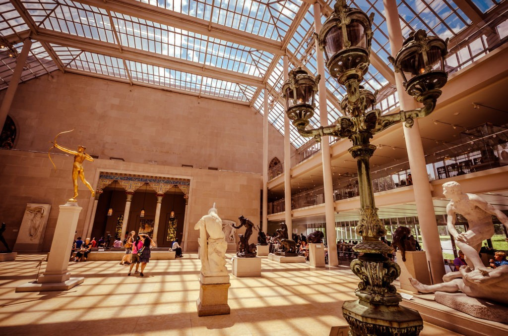 NEW YORK CITY - JUL 17: In the Metropolitan Museum of Art's on July 17, 2014 in New York. The Charles Engelhard Court in the American Wing.