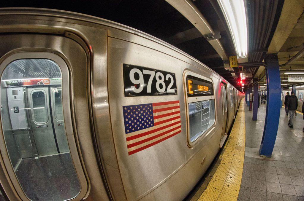 NEW YORK CITY - MAR 1: Interior of NYC Subway station, March 1, 2011 in New York City. Subway system has 468 stations in operation.