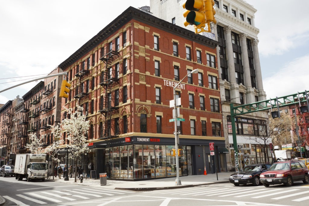 New York, New York, USA - March 29, 2012: The Tenement Museum located on the lower east side of Manhattan.