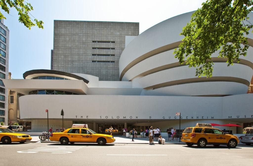 New York, U.S.A .- July 10 2009: Manhattan, the Guggenheim museum