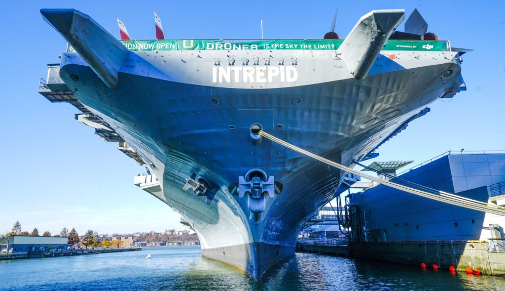 November 24 2017 : The Intrepid Sea, Air & Space Museum is an American military and maritime history museum with a collection of museum ships in New York City.
