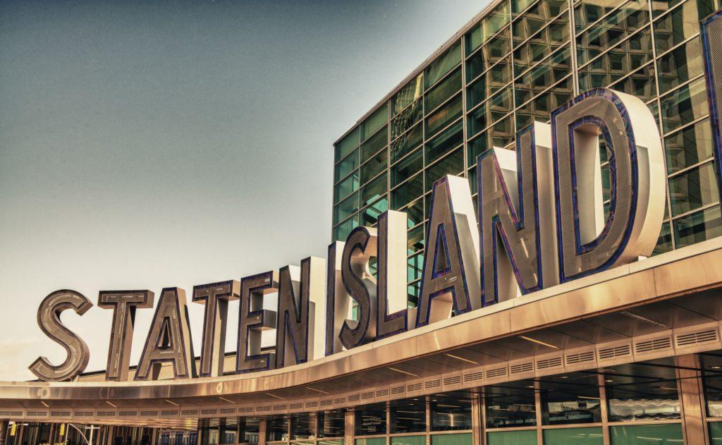 Słynny Staten Island Prom znak wejścia - Nowy Jork.