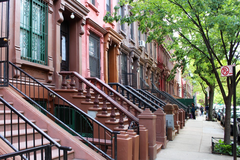 Brownstones in Harlem (New York - USA)