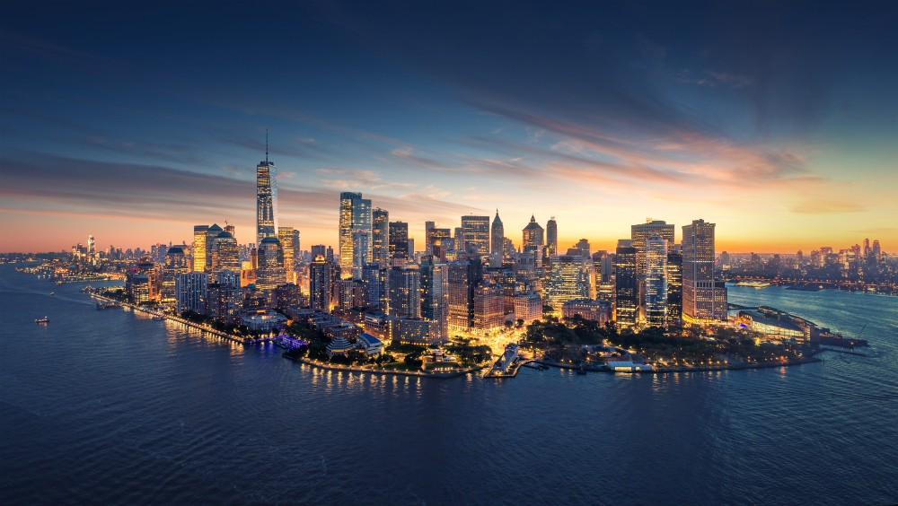 Panorama Nowego Jorku Manhattan