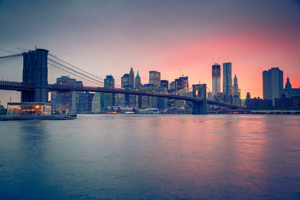 Most Brooklyński o zmierzchu, Nowy Jork