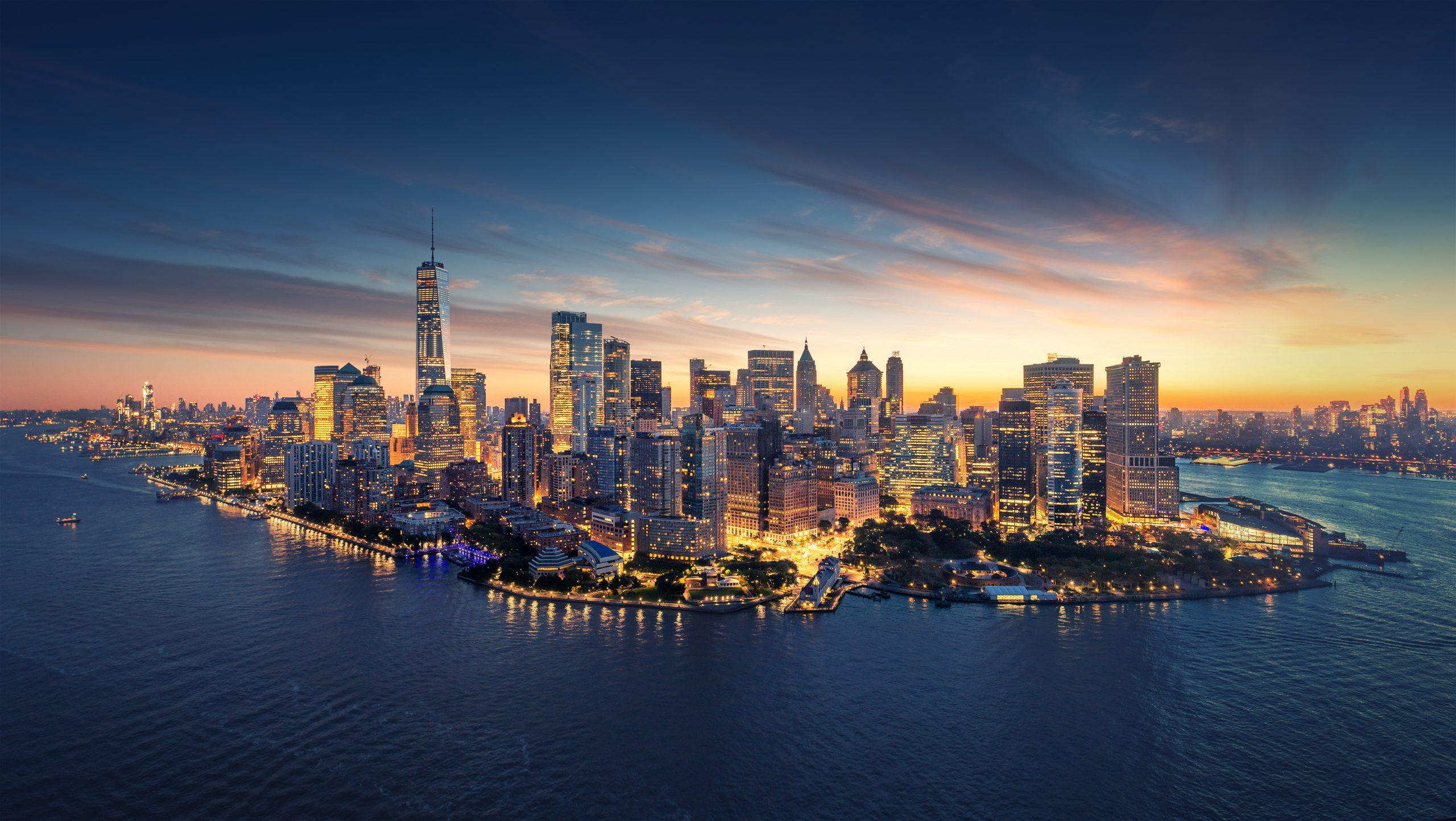 Nowy Jork panorama nocą