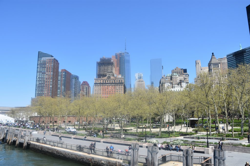 Seen Manhattan from Staten Island Ferry, New York